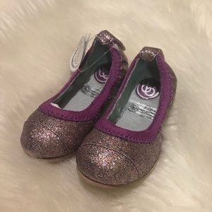 Bumbums & baubles Anna sparkly flats in purple